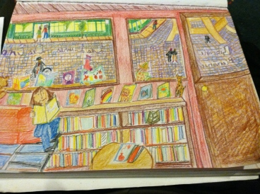 French Bookstore Sketch