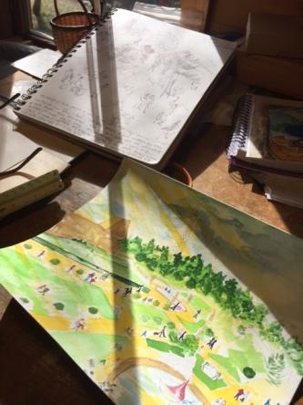 my bright sunny art desk