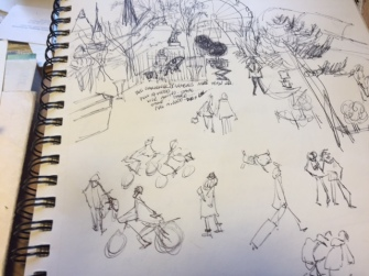 sketch from the steps