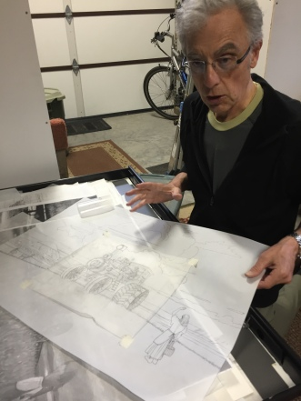 Monte explaining sketching procedures