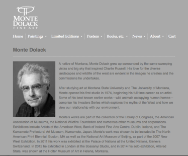 Monte Dolack Website bio